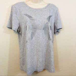 Norma Kamali 2X Cotton T-shirt Casual Grey Plus